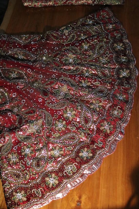 Wedding dress Indian Vintage Women Wedding Lehenga