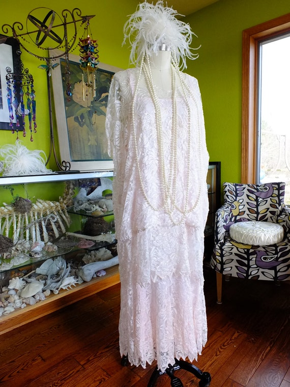 Vintage wedding dress 1920s Flapper style Great Ga