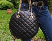 Diamonds Style Round Genuine Leather Shoulder Bag, Quilted Elegant Large Bag, Minimalist Round Bag, Women Handbag, Eternal Fashion Bag