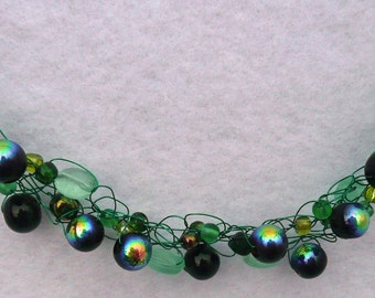 The Deep Green Sea at Sunset Necklace