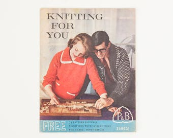 Knitting for You, Vintage Knitting Pattern Booklet, 1960s Knitting Patterns