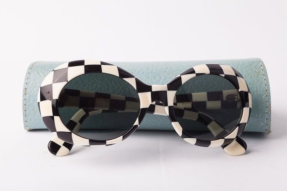 1960s French Op Art Solarite Sunglasses