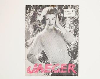 Jaeger Ladies' Cardigan Vintage Knitting Pattern, 1950s Knitting Pattern