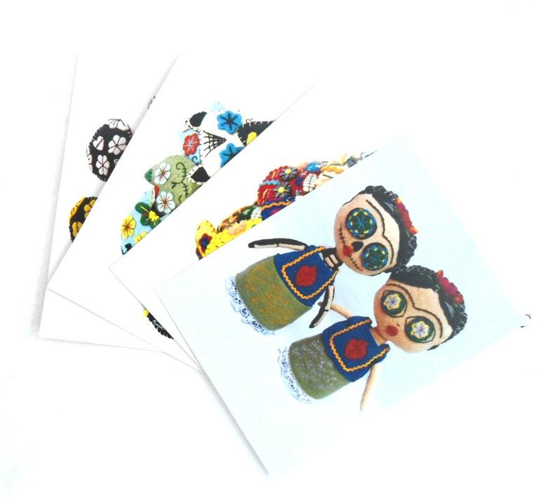 Frida /& sugar skulls postcards