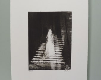 Ghost 7 - Monotype - OOAK Original Art