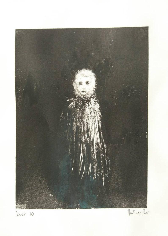 OOAK Original Art Ghost 10 Monotype
