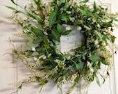 New Spring Wreath For the Door, Fall Wreath, WREATHS, Door Wreaths, Front Door Wreath, Outdoor Wreath, Wreath