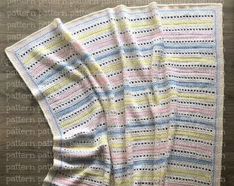 PATTERN Carly Baby Blanket Crochet PATTERN