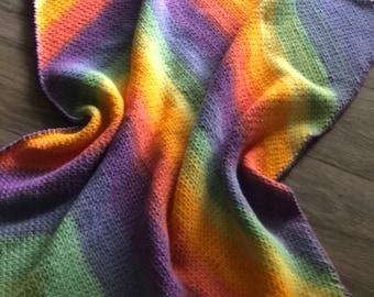 Crochet Baby Blanket Retro Chevron