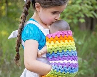 Mini-Mom Babydoll Carrier Crochet Doll Carrier