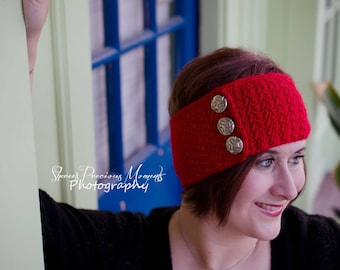 The River Buttoned Headwrap