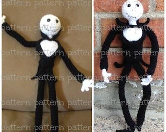 PATTERN Jack Skellington Amigurumi Doll PATTERN Nightmare Before Xmas