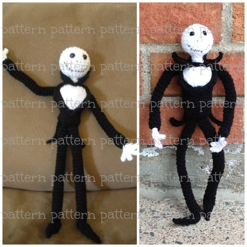 PATTERN Jack Skellington Amigurumi Doll PATTERN Nightmare image 0