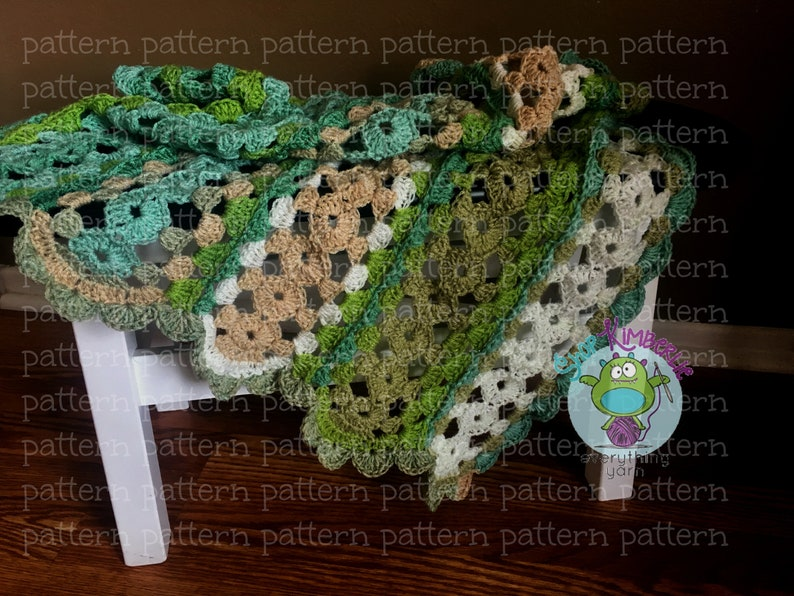 PATTERN Stripes and Wheels Baby BLanket Crochet PATTERN image 0