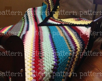 PATTERN Corner-to-Corner Granny Stitch Throw Crochet PATTERN