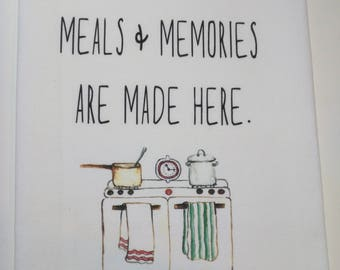 Personalized Meals and Memories flour sack towel
