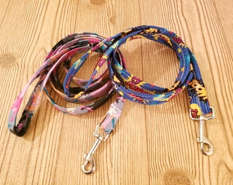 Dog leash fabric covered graphic leash free shipping in United States