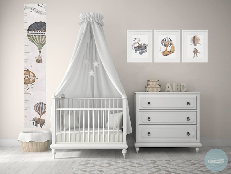 Growth Chart hot air balloons loved beyond measure toddler image 0