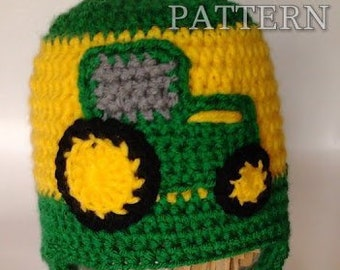 Farmer s Favorite Tractor Hat  Pattern only  9d3d0b7b193