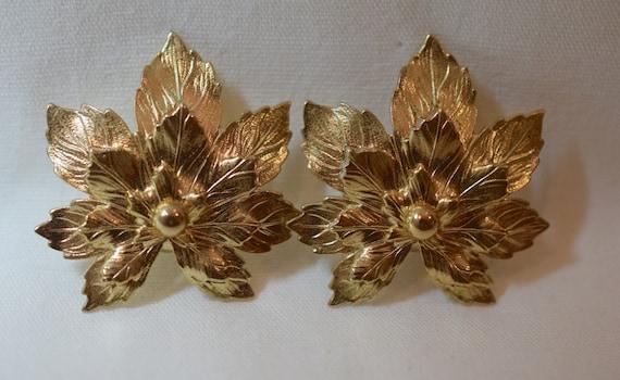Leaf Necklace Leaf Earrings Vintage Sarah Coventry Vintage Sarah Coventry Gold Lace Leaf Pendant Necklace Fall Leaf Dangle Earrings