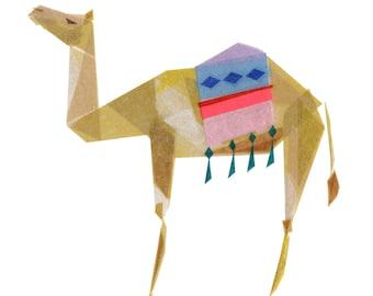 Carla Camel - Camel Art Print, Camel Decor, Camel Art Print