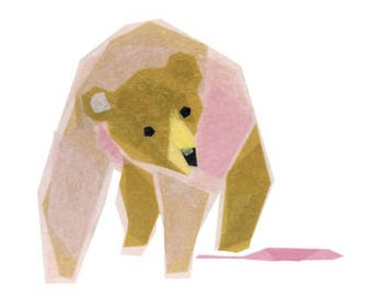 Lois Bear - Bear Art Print, Animal Art