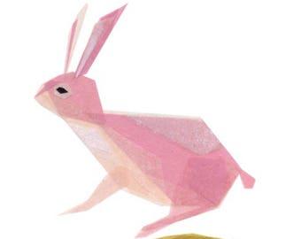 Petunia Bunny - Bunny Art Print, Animal Decor