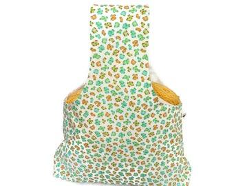 Large Yarn Bag Monkey Business Socks Reversible Yarn Bag / Project Tote / Arm Bag / Wrist Bag / Knitting Tote / Crochet Bag S304