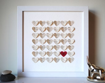 Baby Gift, Personalized 3D Song Hearts - made from a lullaby or children's song of your choice (Unique baby shower gift)