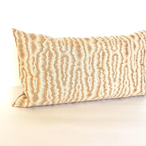 Lumbar Pillow Cover Rust Pillow Faux Wood Grain Upholstery Etsy