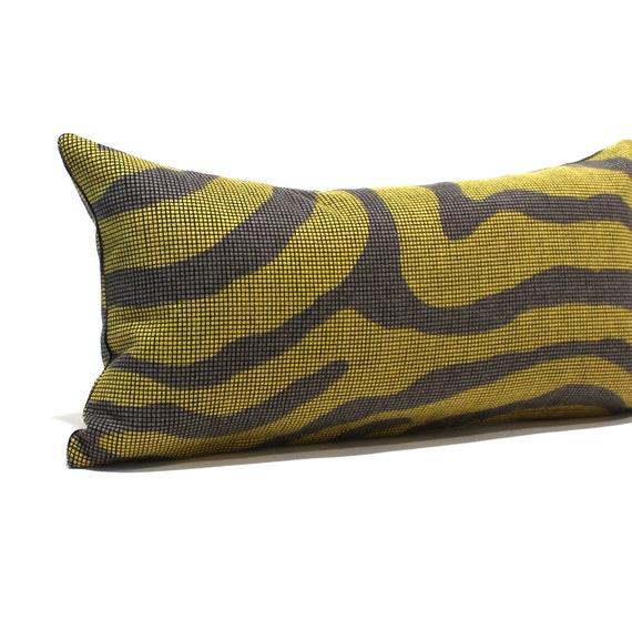 Astonishing Lumbar Pillow Cover Green Brown Faux Zebra Throw Pillow Cover Oblong Decorative Pillow 14X26 12X24 12X21 12X18 12X16 10X20 Uwap Interior Chair Design Uwaporg
