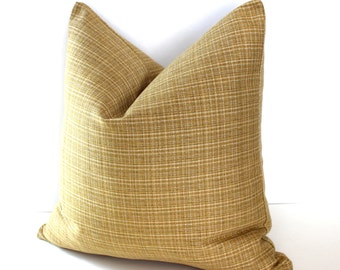 Gold Pillow Cover Stripe Throw Pillow Cover Decorative Pillow 18x18 16x16 12x24 12x21 12x18 12x16 10x20