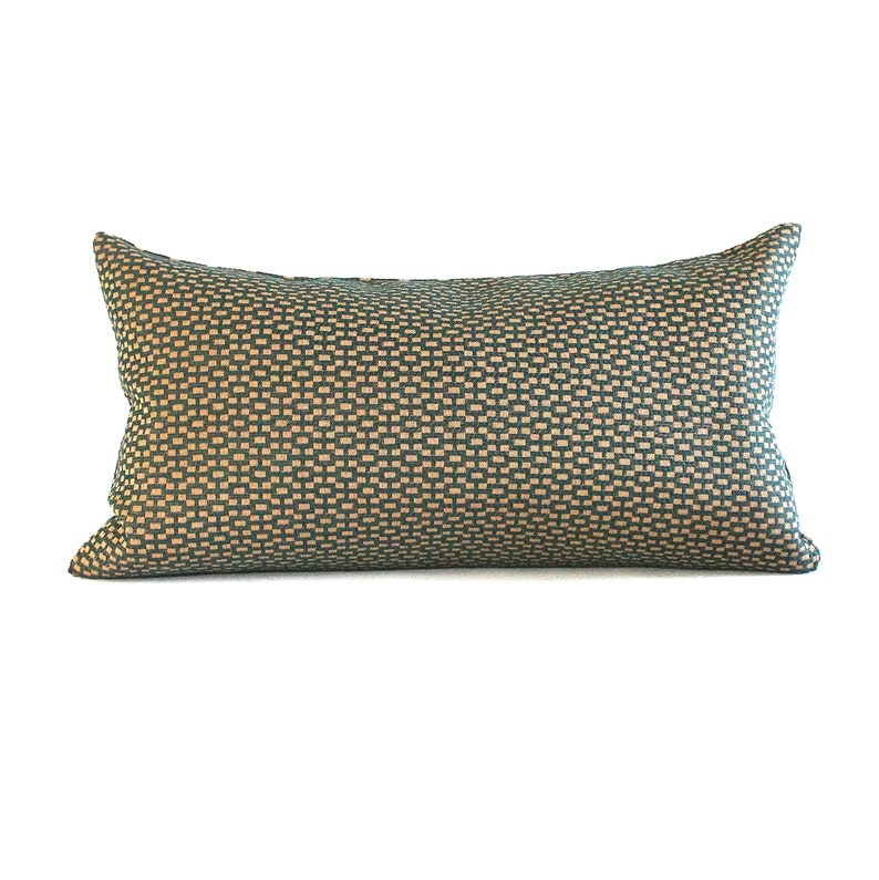 Lumbar Pillow Cover Teal Beige Geometric Upholstery Fabric Decorative Pillow Oblong Throw pillow Cover 14x26 12x24 12x21 12x18 12x16 10x20