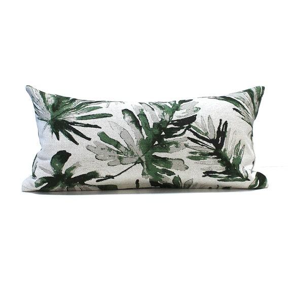 Tremendous Lumbar Pillow Cover 8X16 Petite Lumbar Greige Green Leaf Decorator Fabric Oblong Decorative Pillow Throw Pillow Cover Low Back Neck Pillow Theyellowbook Wood Chair Design Ideas Theyellowbookinfo