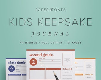 Kids Keepsake Journal – Printable Birthday Interview Questions for Children, Childhood Memories, Yearly Annual Diary  /  PDF Printables