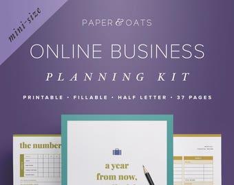Mini Business Planner, Small Business Planner, Etsy Shop Planner, Marketing Planner, Blog Planner, Social Media Planner, Goal Setting PDF