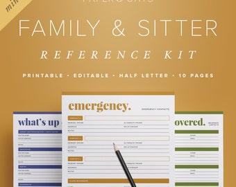 family planner binder mom planner pdf household binder etsy
