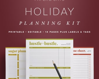 Holiday Planner 2018, Christmas Planner, Holiday Planning, Christmas Gift List, Christmas Organizer, Christmas Countdown, PDF Printables