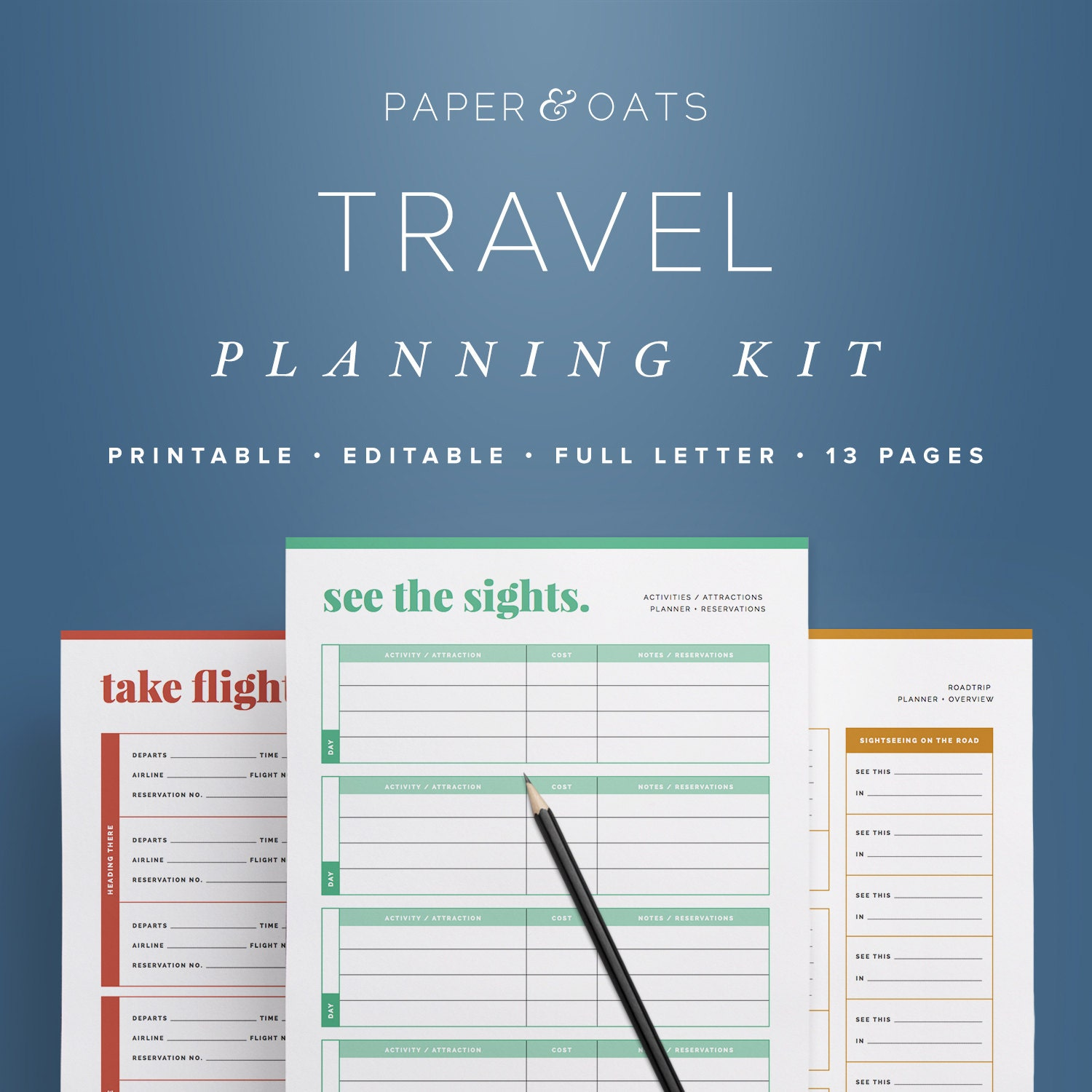 Travel Planning Kit Vacation Planner Travel Planner  Etsy
