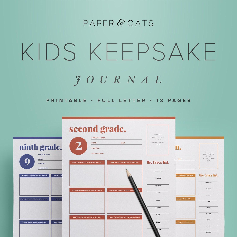Kids Keepsake Journal Printable Birthday Interview Questions | Etsy