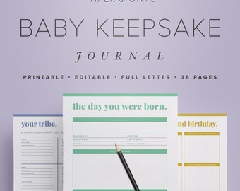 Baby Memory Book, Baby Keepsake Journal, Baby Book PDF, New Mom Diary, Baby Shower Gift, Baby Milestones, Mom Planner PDF, New Baby Gift