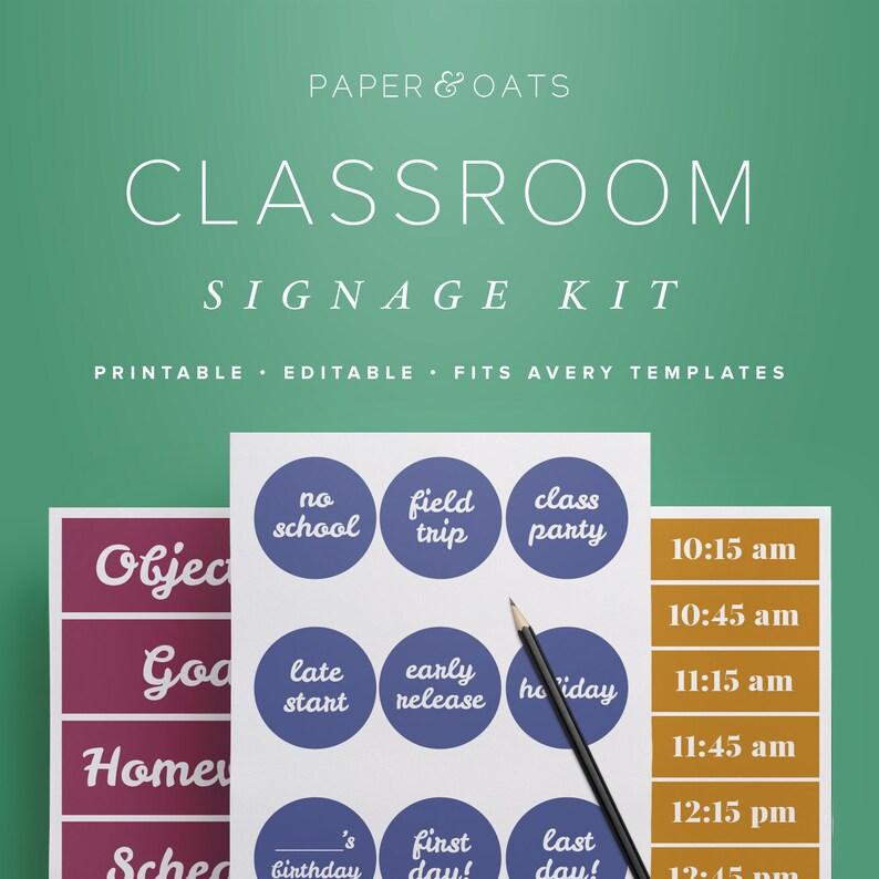 Classroom Decor Kit Printable Classroom Decorations Etsy
