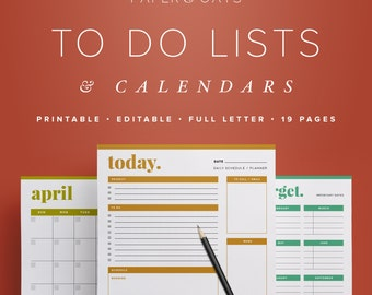 Productivity Planner, Undated Planner, Daily Planner 2018, Weekly Agenda 2018, Productivity PDF, Monthly Planner 2018, Week on Two Pages