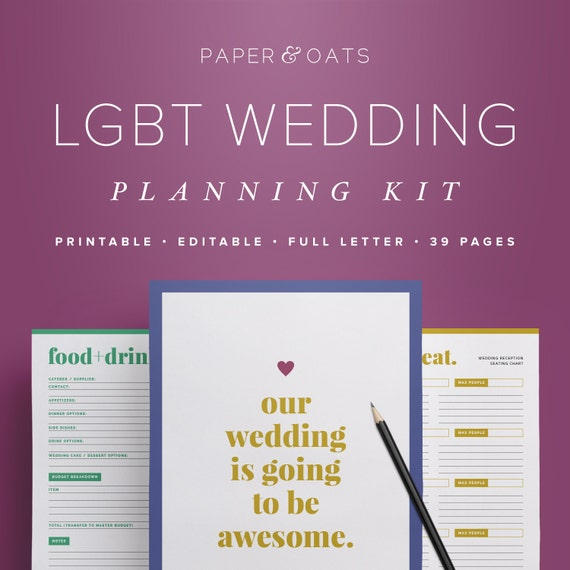 LGBT Wedding Planning PDF Gay Lesbian Wedding Planner Book