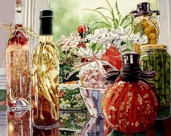 STUFFED STUFF - watercolor reproduction