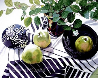 PEARS - watercolor reproduction