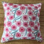 flowering gum piped cushion cover, Australian native cushion cover
