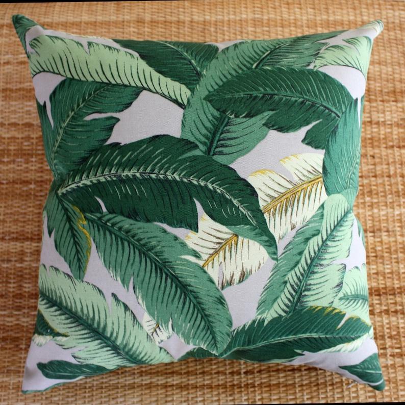 outdoor cushion grey banana leaf cushion retro 45x45 cover image 0