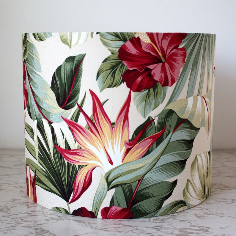 tropical hibiscus oasis lampshade image 0