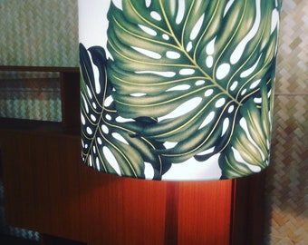 monstera palm leaf lampshade